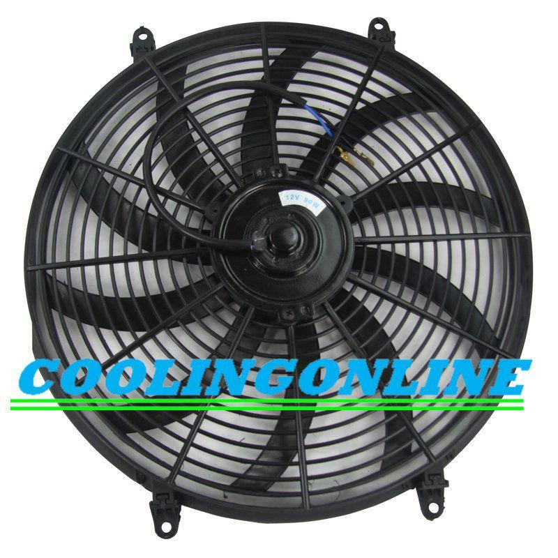 Best 12v 16 Inch Slim Thin Push Pull Radiator Cooling Electric Radiator Fan New Radiator Cooling Elect Electric Radiator Fan Radiator Fan Aluminum Radiator