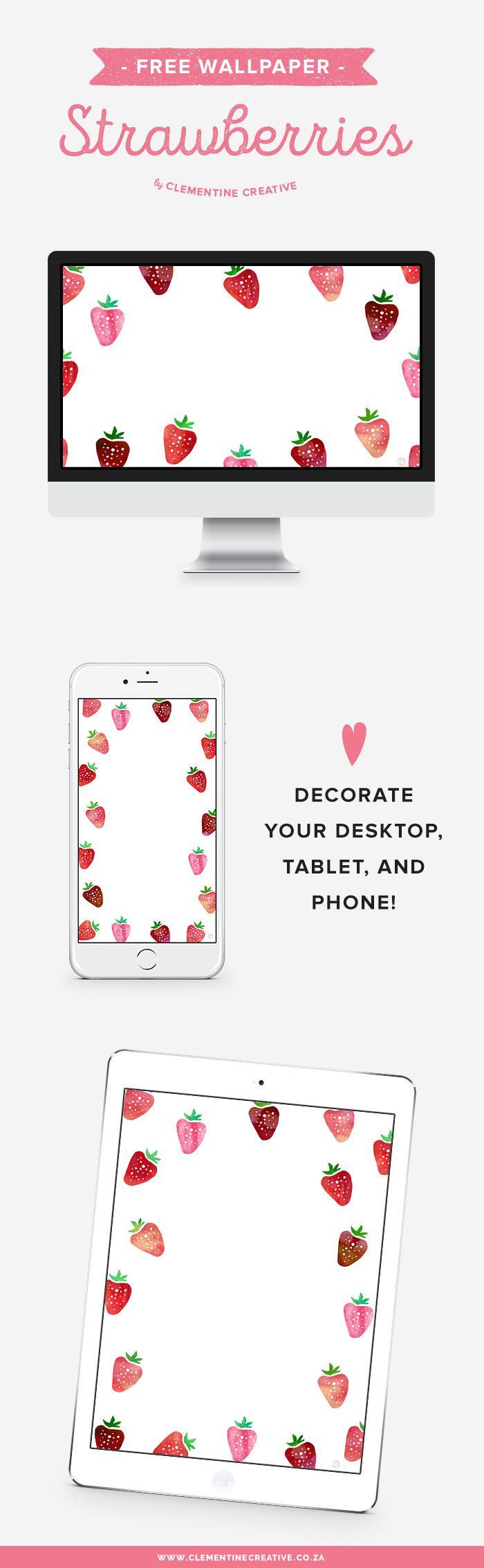 Free Wallpaper Downloads: Strawberries