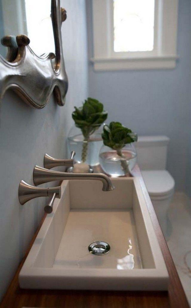 Small Toilet Room Design Sink E Salle De Bains Etroite Petit
