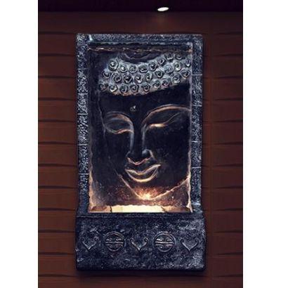 28 Tall Buddha Wall Fountain w Light at Garden and Pond Depot