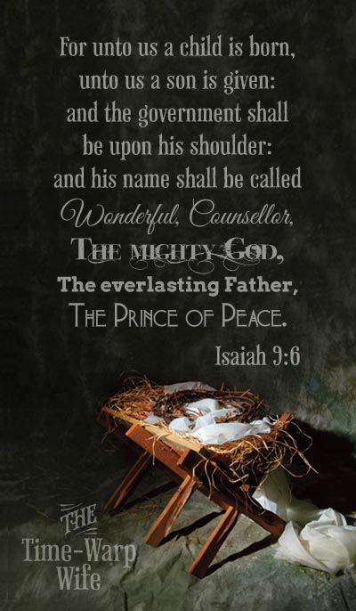 "Image result for kjv bible verse isaiah 9:6"""