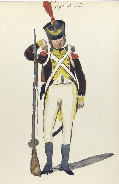 5º Regimiento de Infanteria de Línea Granada 1811 Soldado