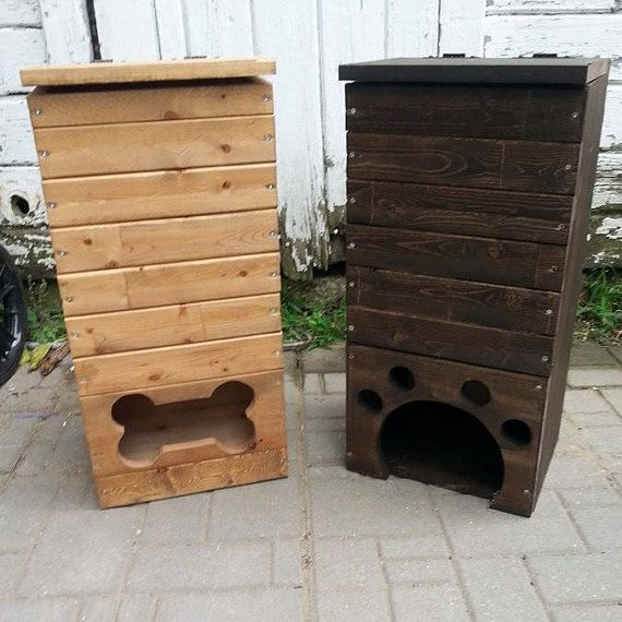 Wood Dog Toy Box / Pet Toy Storage / Handmade/ Pawprint Or Bone Shape / Dog  Toy Storage