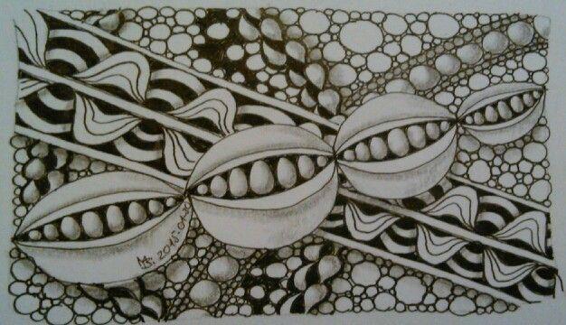 #Zentangle, #doodle, #pattern