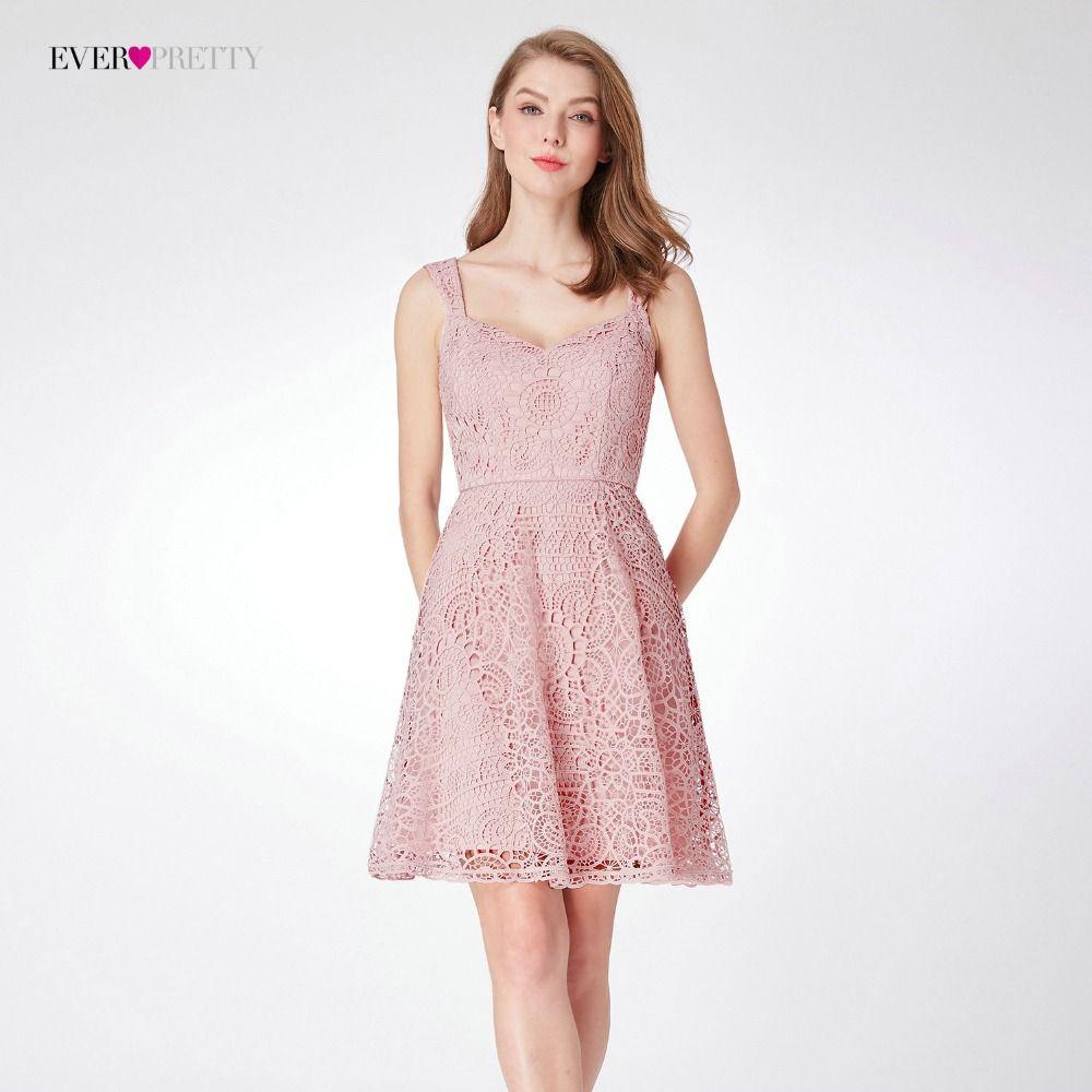 Lace bridesmaid dresses ep knee length elegant sleeveless party