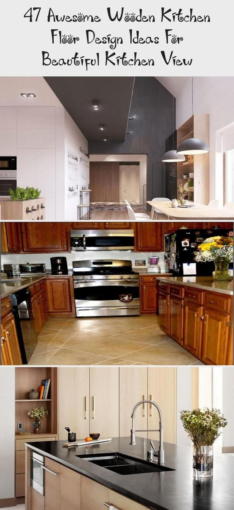 47 Awesome Wooden Kitchen Floor Design Ideas For Beautiful Kitchen
