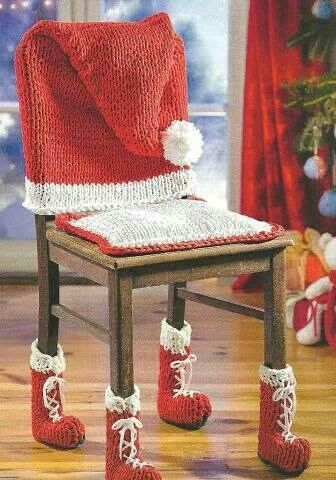 crochet christmas chair covers inexpensive lounge cushions for santa holiday food crafts and fun pinterest