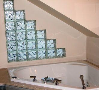 Sloped Wall Bathroom Triangular Glass Blocks And Using Them On
