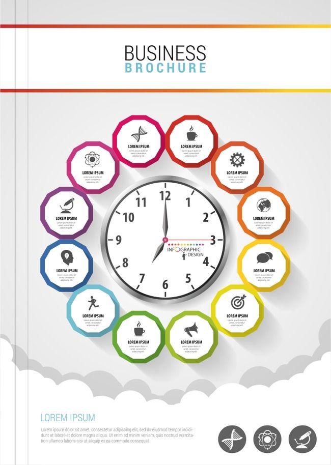 ناقلات الساعات الوقت غلاف الألبوم ألبوم صور تصميم فلاير نشرة قالب Png والمتجهات للتحميل مجانا Business Brochure Brochure Clock