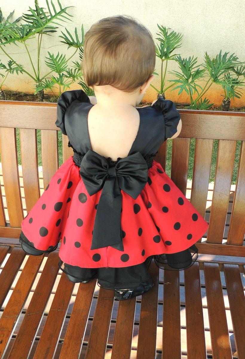 28f979749eb Vestido Minnie Festa Vermelho maravilhoso