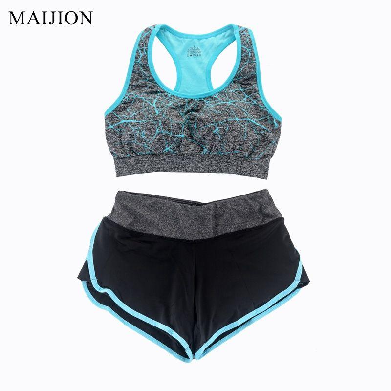 MAIJION Women Yoga Set Fitness Gym Running Sport Suit