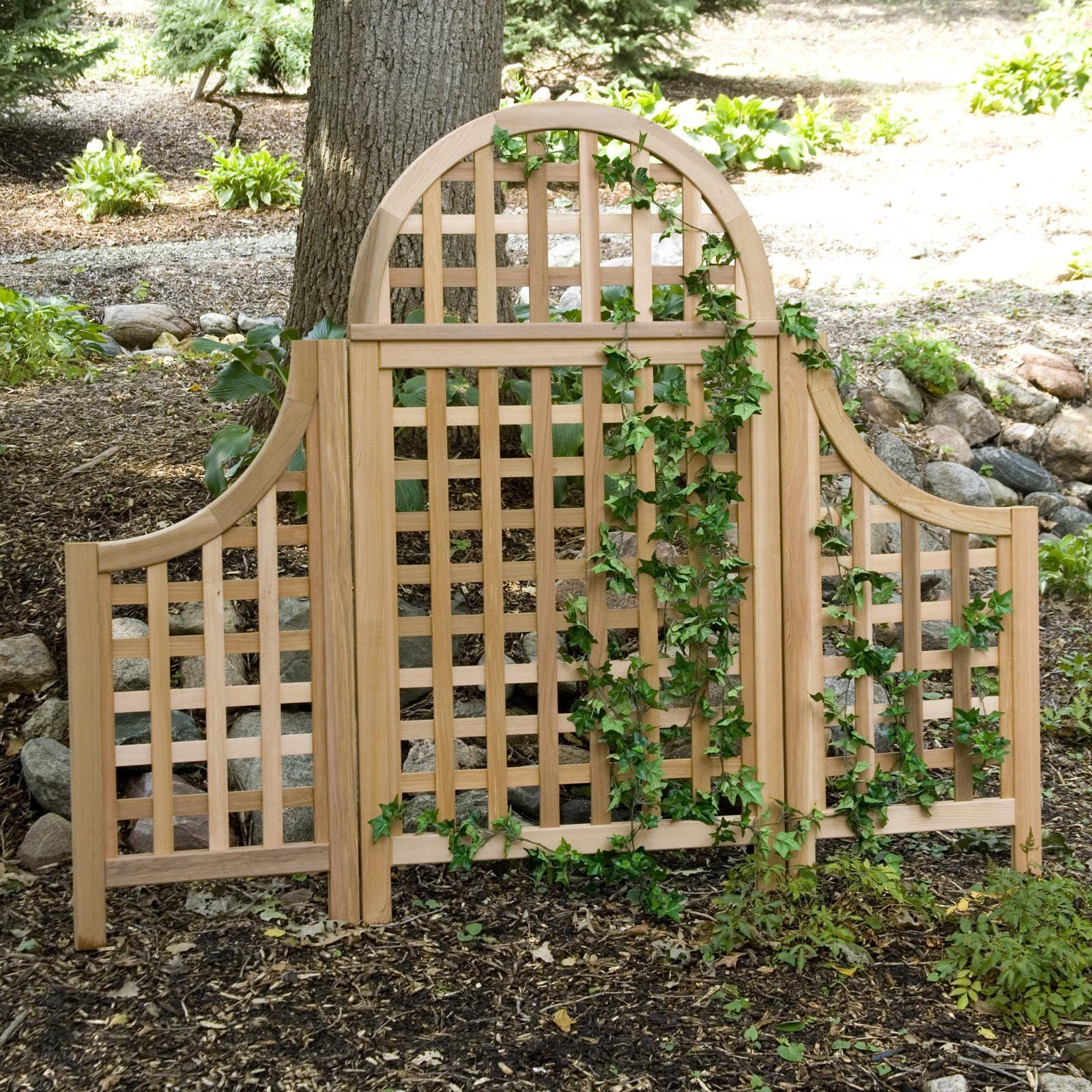 Have to have it. Arboria Andover 5 ft. Cedar Wood Arch Trellis with ...