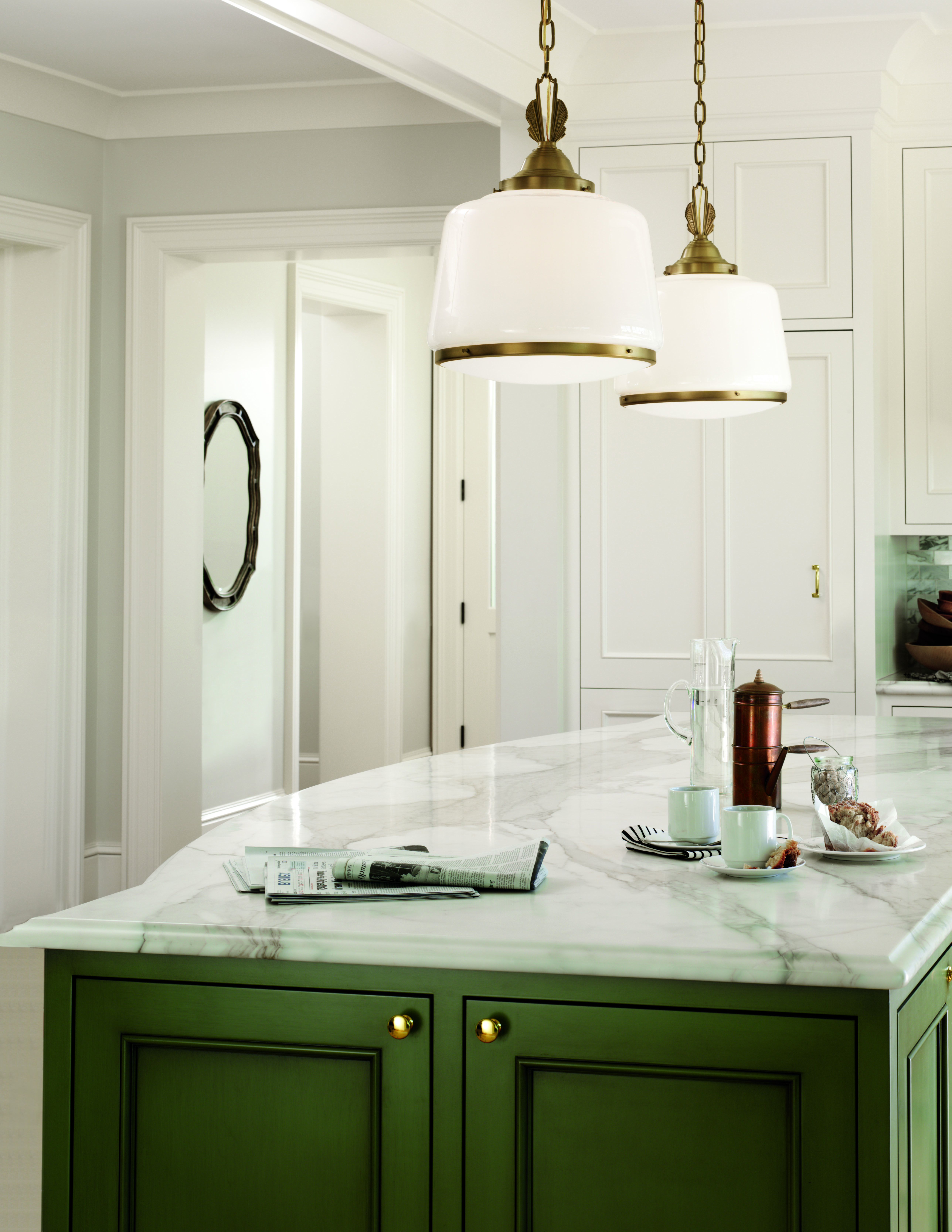 in love with the light fixtures and the kitchen a pair of our