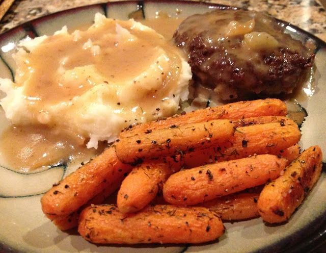 Escapades in Eating: Hamburger Steaks with Caramelized Beef-Onion Gravy...