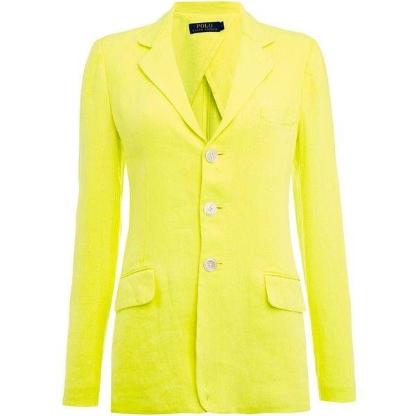 Polo Ralph Lauren Neon linen blazer ($380) ❤ liked on Polyvore ...