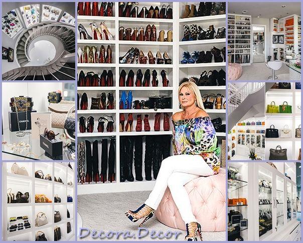 O CLOSET DE MEIO MILHÃO DE DÓLARES Ex-Miss Texas constrói espaço inacreditável com três andares para guardar roupas de revistacasaejardim.globo.com