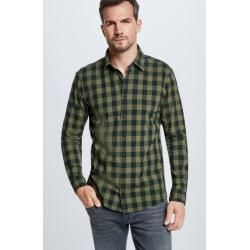 Kent collar shirts for men -  Shirt Coryn, checkered green StrellsonStrellson  - #CelebrityStyle2018 #CelebrityStylemen #CelebrityStylenight #CelebrityStyleparty #Collar #Kent #Men #shirts