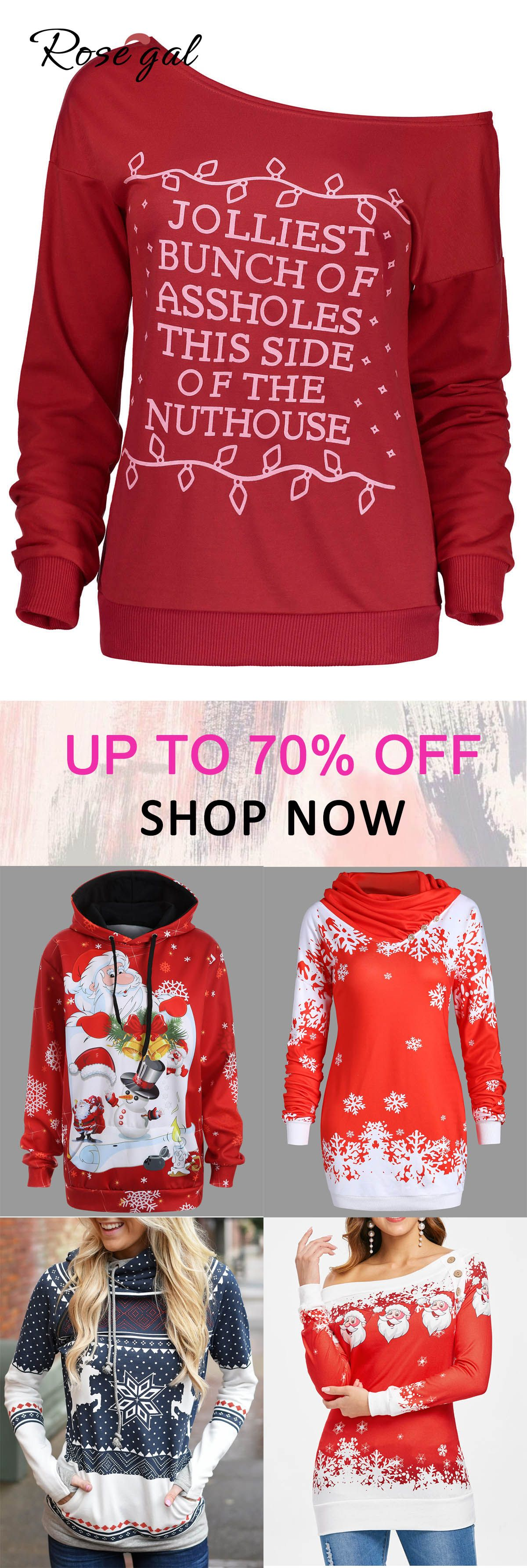 Christmas Tops For Women.Free Shipping Over 45 Up To 70 Off Rosegal Christmas
