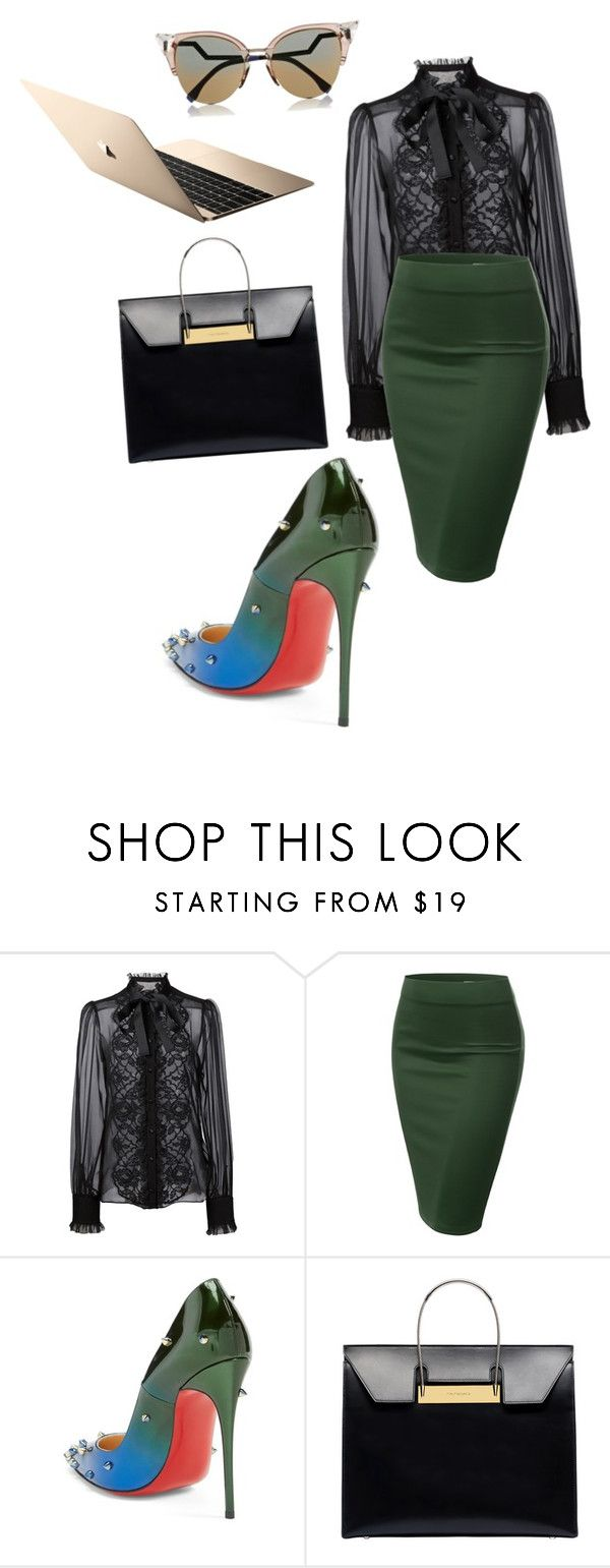 """""""Untitled #24"""" by tirena ❤ liked on Polyvore featuring Dolce&Gabbana, J.TOMSON, Christian Louboutin, Balenciaga and Fendi"""