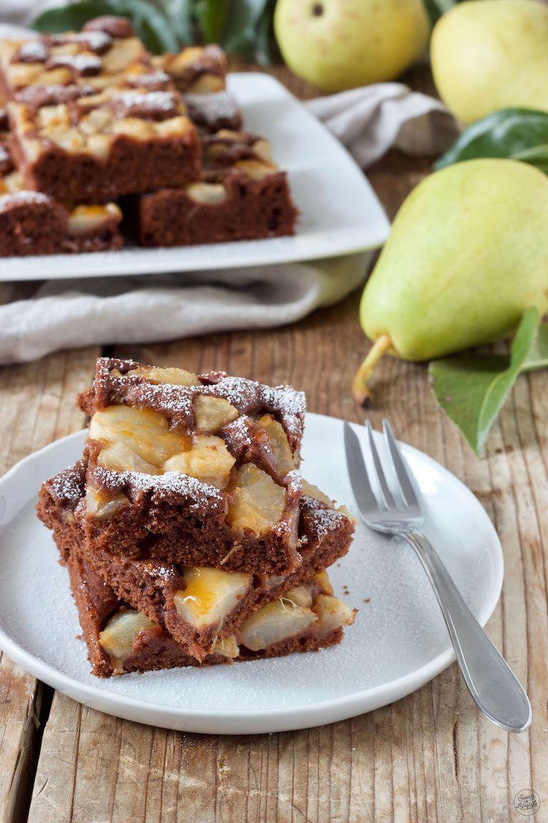 Schoko-Birnen-Kuchen vom Blech - Rezept - Sweets & Lifestyle