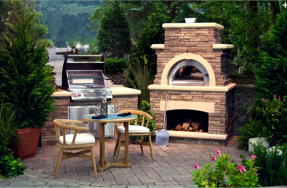 grill with pizza oven Outdoor Kitchens, Grills  Pizza Ovens