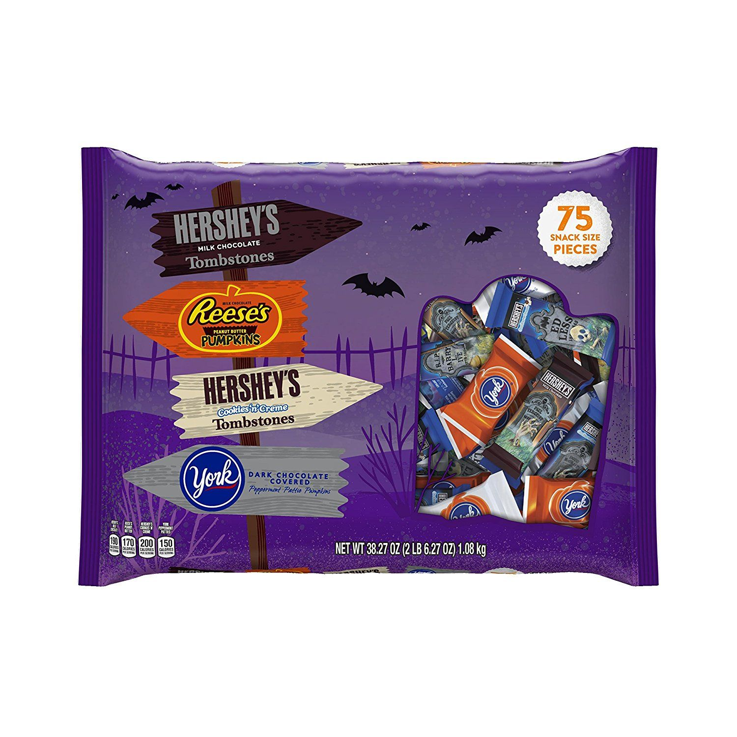 HERSHEY'S Halloween Snack Size Assortment (38.27Ounce Bag