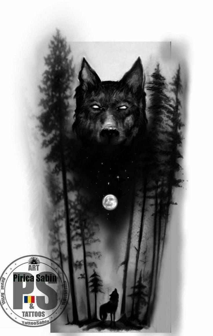 Antebrazo Tatuajes De Lobos En El Brazo