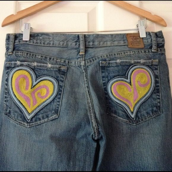 Rare Limited Edition Chip & Pepper Heart Jeans Rare limited edition Chip & Pepper Heart Jeans....size 30....I know nothing about these jeans my friend gave me a bunch of stuff to sell...these were used a few times....great condition no holes rips or stains Chip & Pepper Jeans