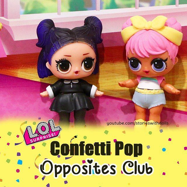 LOL DAWN Surprise Doll Confetti Pop Series 3 Wave 1 Opposites Club dress as pic