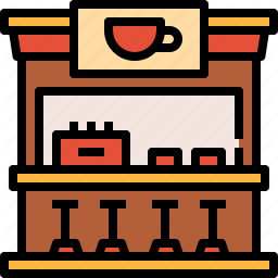 Coffee Shop Icons By Linector Shop Icon Icon Easy Drawings