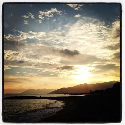 ...at the end of a day in #liguria #loano #beach #italy
