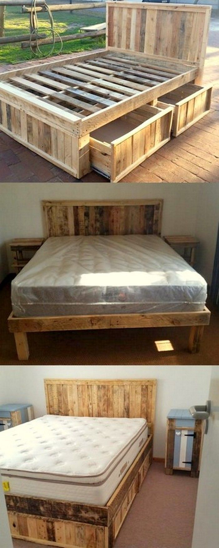 Pallets Bed Idées Deco Pinterest Pallets Pallet Furniture And