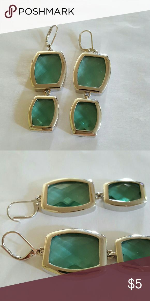 Green/Blue Earrings Bluish green earrings on wires.about 1.5 inches in length.  New without tags.    Bundle and save!  Feel free to ask questions and make an offer, but no low-balling please! Nine West Jewelry Earrings
