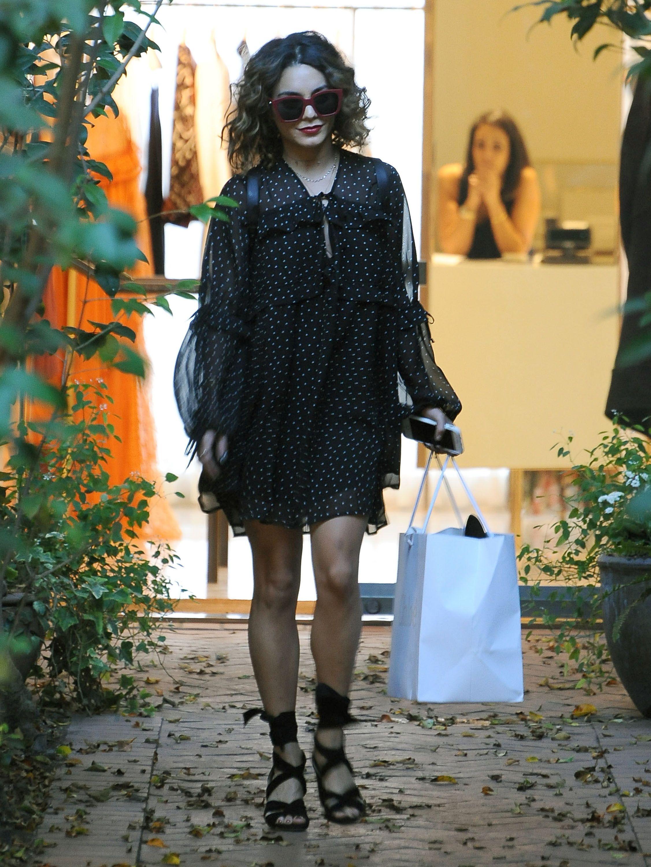 Vanessa Hudgens shopping in West Hollywood 10/21/16