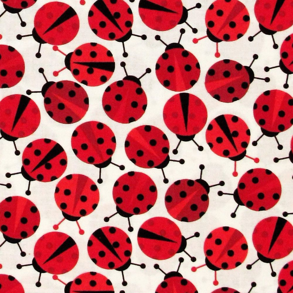 Urban Zoologie Minis Ladybird Red 100/% Cotton Fabric Robert Kaufman