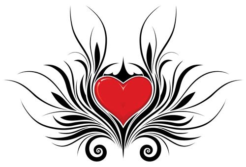 Tribal Heart Tattoo Designs Png Black Heart Tattoos Tribal Heart Tattoos Heart Tattoo