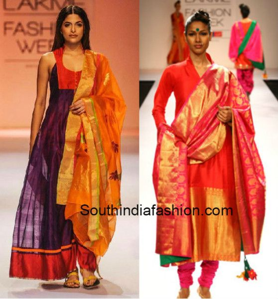 how to convert old sarees into anarkalis - Google Search | Fashion ...