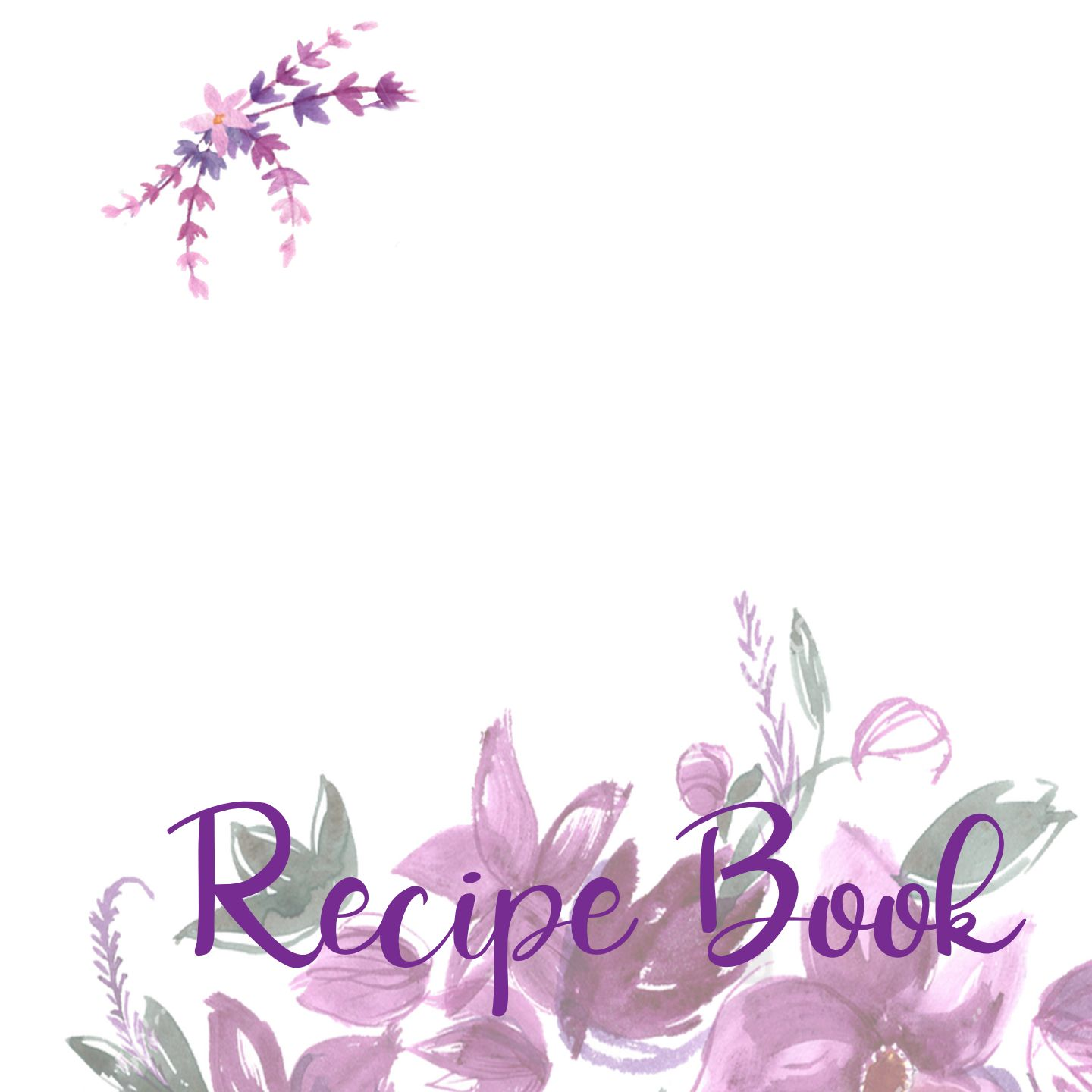 a blank recipe book that can be filled in with a fine point sharpie