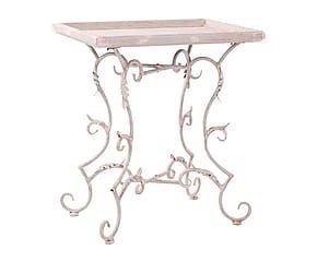 Mesa Auxiliar En Madera De Pino Blanco Side Tables Tables De