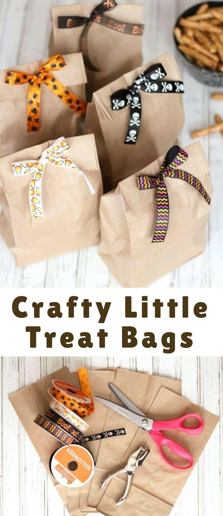 Crafty Little Treat Bags Halloween treat bags diy