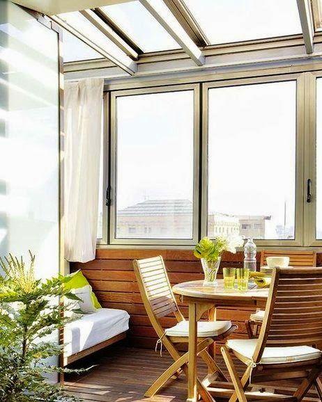 Como aprovechar un balcon cerrado a place for shy en - Ideas para cerrar una terraza ...