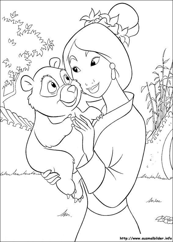 Mulan Malvorlagen Acoloring Pages Disney Coloring Pages