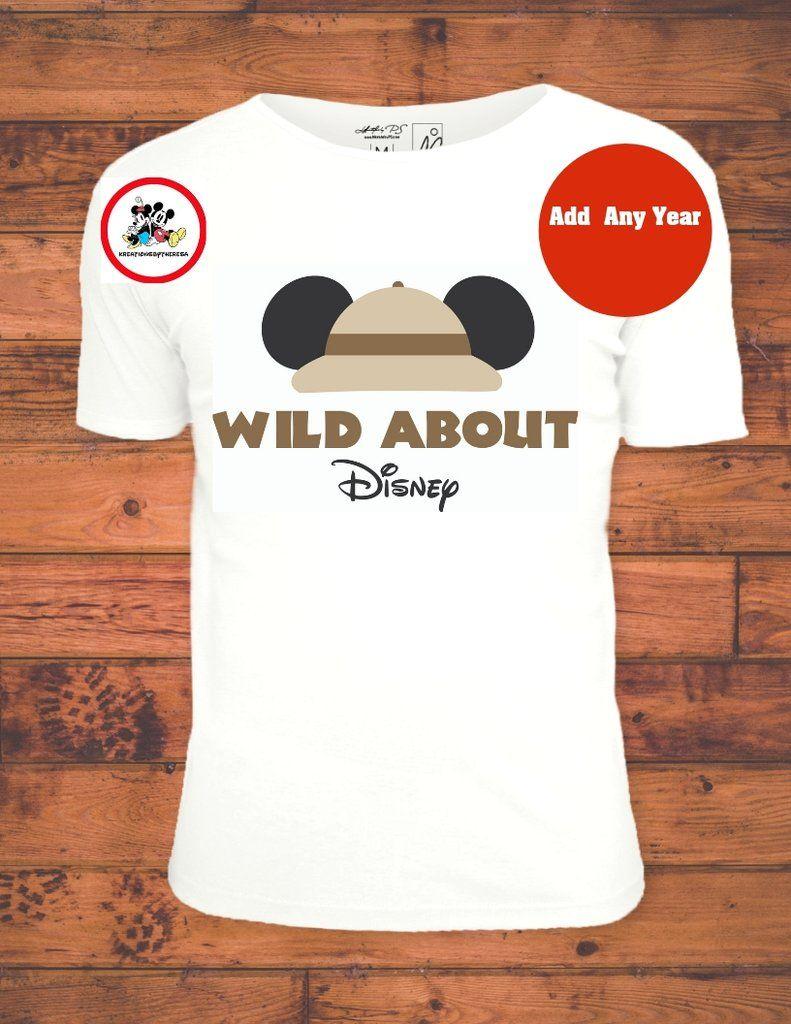 Animal Kingdom Mickey Wild About Disney Iron On Transfer