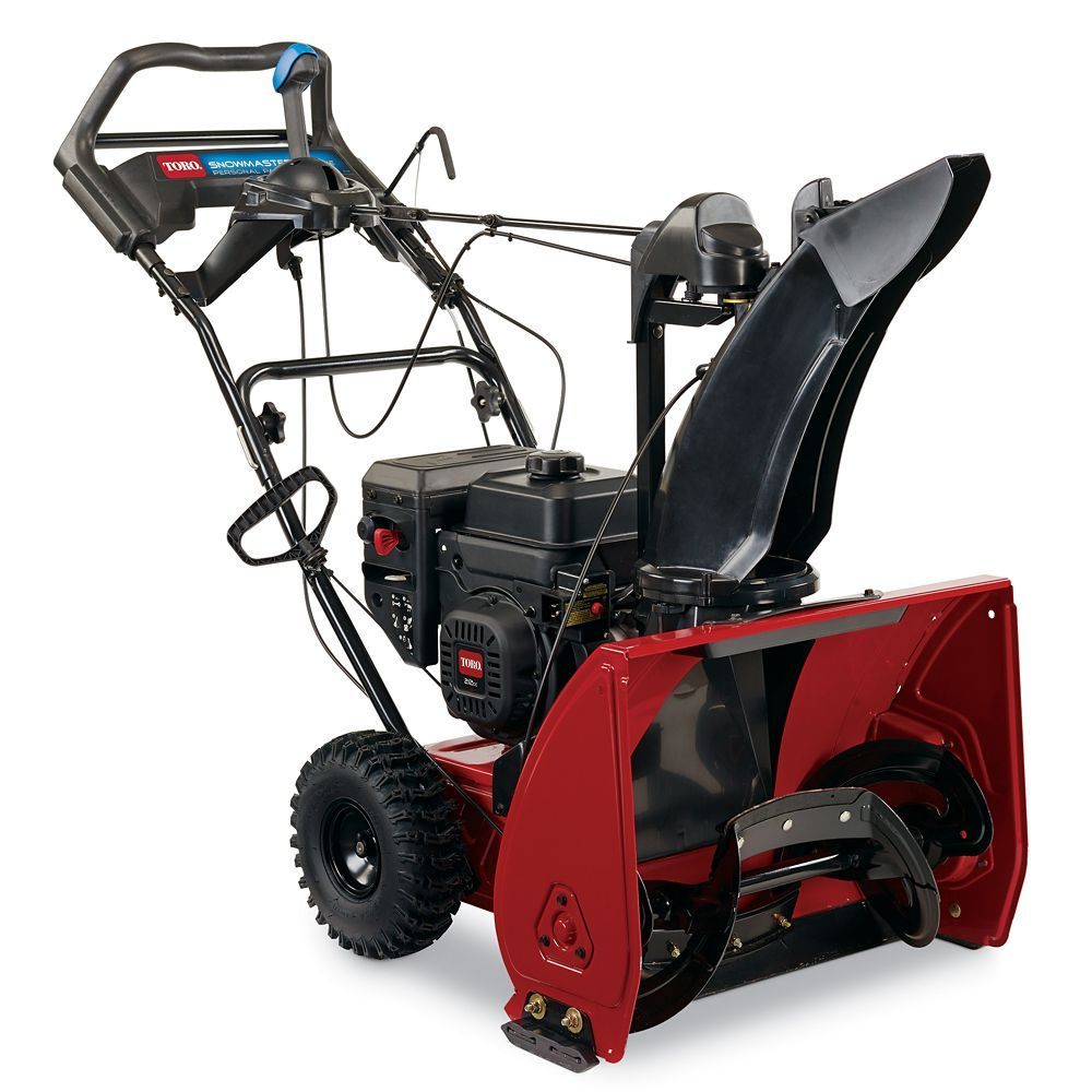 Snowmaster 724 Qxe 212cc Ohv 24 Inch Single Stage Snow Blower Gas Snow Blower Snow Blower Snow Blowers