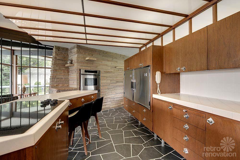 Image result for original midcentury kitchens Mid