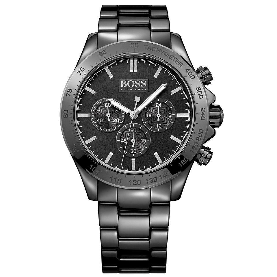 Hugo boss armbanduhr schwarz