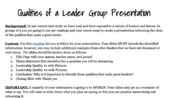 Qualitie Of A Leader Group Presentation In 2020 Essay On Trait Good