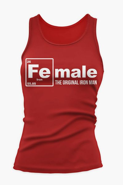 ca3fd94c4a38df FEmale the Original Iron Man Fitness   Workout Tank Top in Red ...
