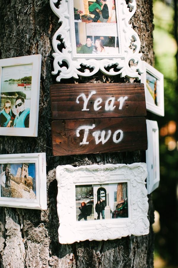 Love story display idea - Woodland Wedding