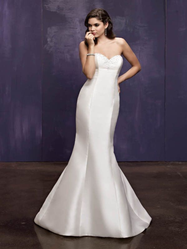 Style BE214 / Ella Rosa Collection / by Ella Rosa / Available Colours : Ivory, White (Shown with slight Beaded neckline)